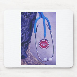 Purple Western Boot Doctor Gambling Stethoscope Mouse Pad