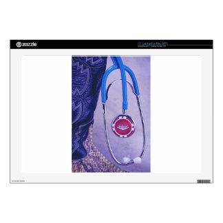 Purple Western Boot Doctor Gambling Stethoscope Skins For Laptops