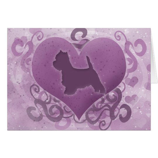 Purple Westie Valentine's Day Card