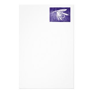 """""""Purple Wet Fly"""" Trout Fly Stationery"""