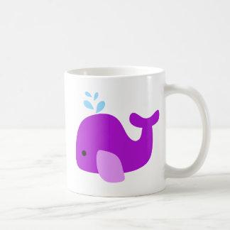 Purple Whale Coffee Mug