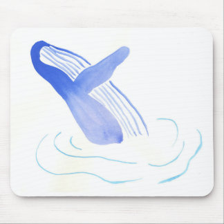Purple Whale Mouse Pad