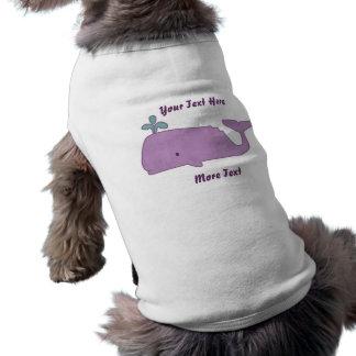 Purple Whale Pet Shirt