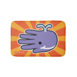 Hand shaped Purple Whale Smiles Bath Mat