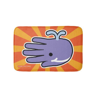 Purple Whale Smiles Bath Mat