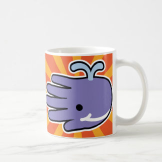 Purple Whale Smiles Coffee Mugs