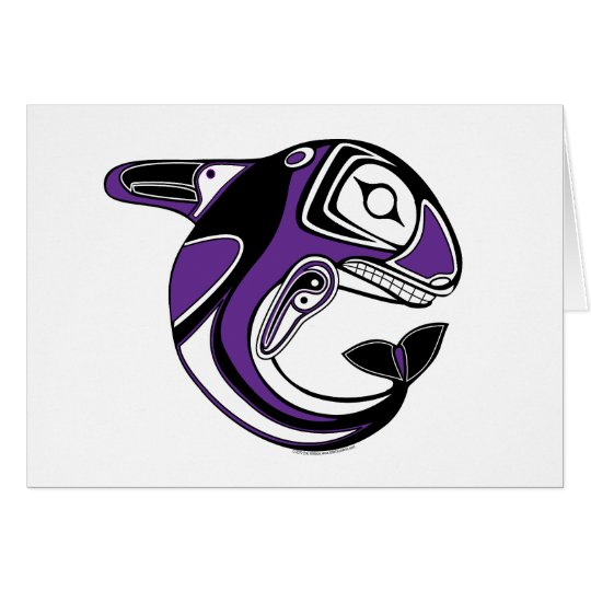 Purple Whale Totem Card