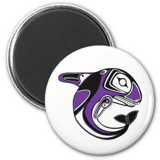 Purple Whale Totem Magnet