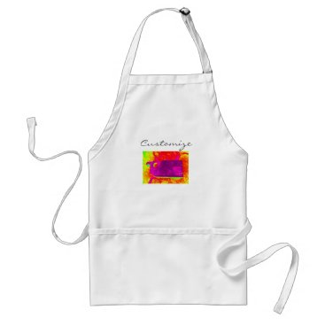 Beach Themed purple whale yellow Thunder_Cove Adult Apron