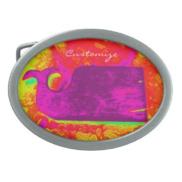 Beach Themed purple whale yellow Thunder_Cove Belt Buckle