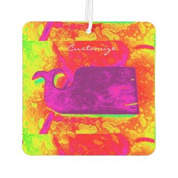 Beach Themed purple whale yellow Thunder_Cove Car Air Freshener