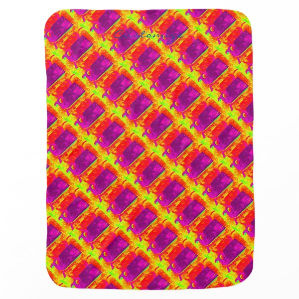purple whales yellow Thunder_Cove Swaddle Blanket