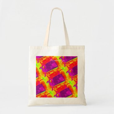 Beach Themed purple whales yellow Thunder_Cove Tote Bag