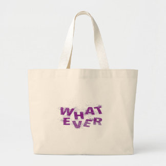 Purple Whatever PNG Large Tote Bag