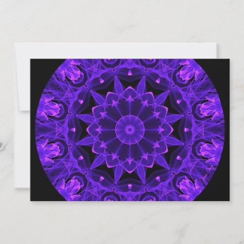 Purple Wheel of Fire Mandala, Abstract Lace Flame