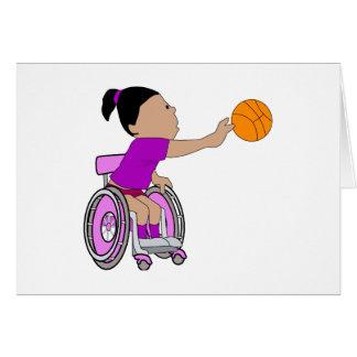 Purple wheelchair girl basketball card