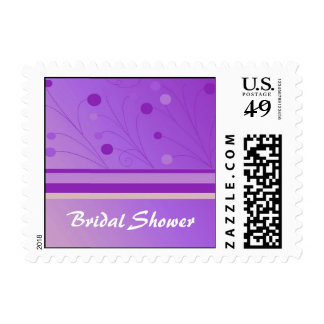 Purple Whimscial Bridal Shower Postage