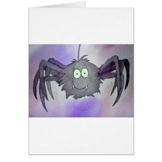 Purple Whimsical Spider Cute Icansketchu Original Card