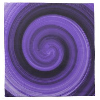 Purple Whirly American MoJo Napkin