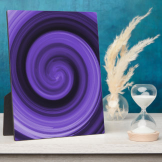 Purple Whirly Plaque