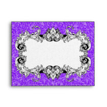 Purple & White A2 Gothic Baroque Envelope
