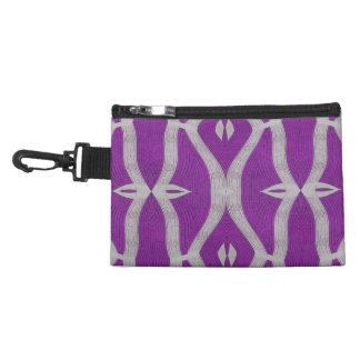 purple white abstract design accessories bag