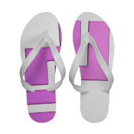 Purple White Abstract Summer Flip Flops