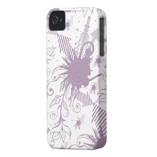 Purple white abstract swirls cool blackberry bold iPhone 4 case