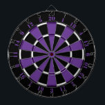 """Purple White and Black Dartboard<br><div class=""""desc"""">Purple White and Black Dartboard.    Striped Hope™ is your online store for a variety unique designs and gifts.</div>"""