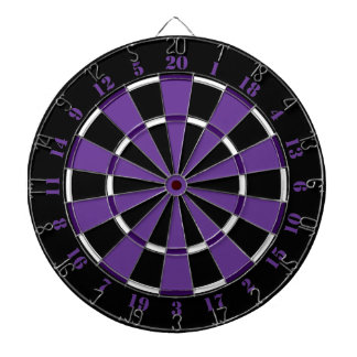 Purple White and Black Dartboard