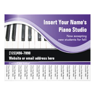 Purple, White, and Black Keyboard Teacher Flyer