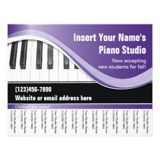 Purple, White, and Black Keyboard Teacher Flyer