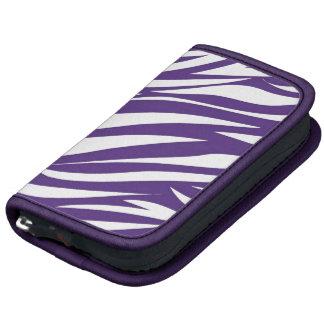 Purple White Animal Stripe Pattern AS Folio Planners