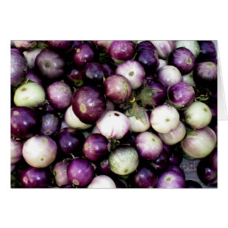 Purple White Asian Eggplants Cards