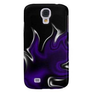 purple white black design samsung galaxy s4 cover