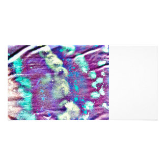 purple white blotches fabric pattern blue abstract card