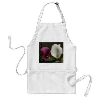 """""""Purple White Calla Lilies"""" Apron"""