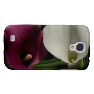Purple White Callas Galaxy S4 Case