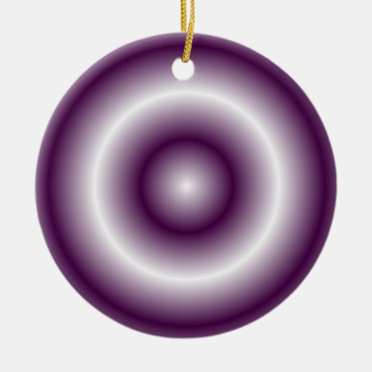 Purple White Ceramic Ornament