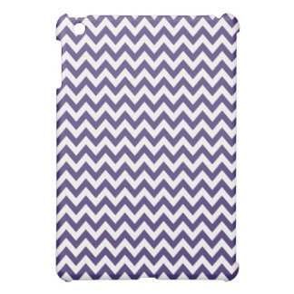Purple & White Chevron iPad Mini Case