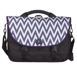 Purple White Chevron Commuter Bags
