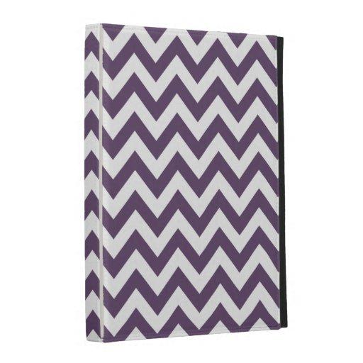 Purple White Chevron Pattern iPad Folio Case