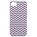 Purple White Chevron Pattern iPhone 5 Case