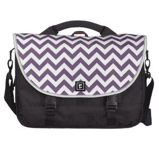 Purple White Chevron Pattern Laptop Bags