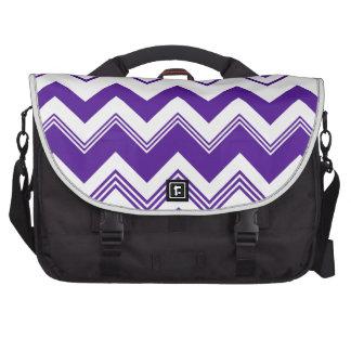 Purple White Chevron Pattern Bag For Laptop