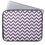 Purple White Chevron Pattern Laptop Sleeves