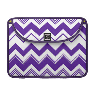 Purple White Chevron Pattern Sleeve For MacBook Pro