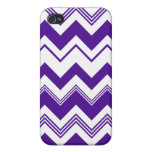 Purple White Chevron Pern iPhone 4 Covers