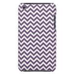 Purple White Chevron Pern iPod Case-Mate Cases