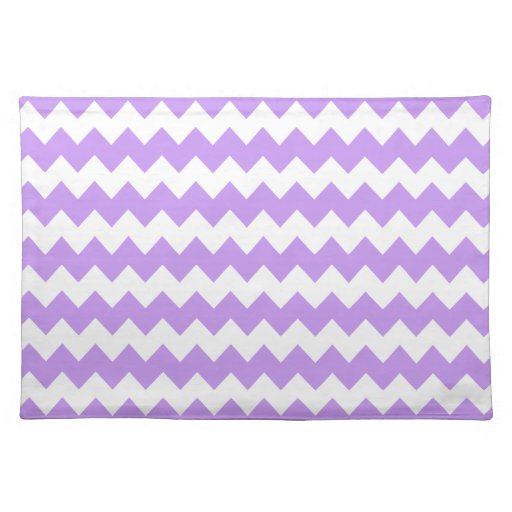 Purple White Chevron Placemats Zazzle